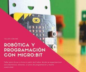 Taller online de programación y robótica con Micro:bit